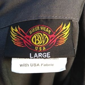 Biker Wear USA Shirts - Biker Wear USA Mens Casual Buttondown Grey